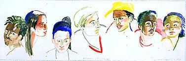 Faces Frieze